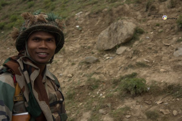 Soldier guarding the Valleys in Kashmir, India
